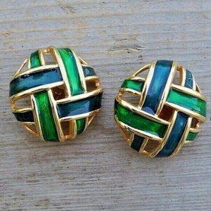 KEYES Montreal Iridescent Enamel Earrings